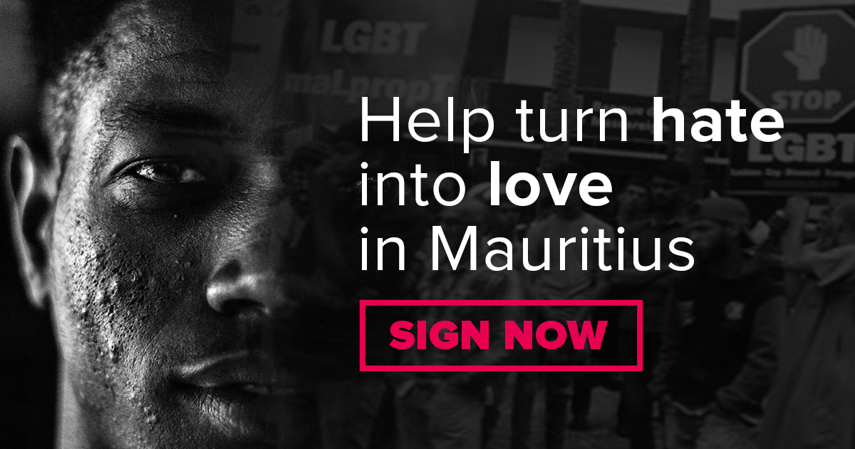 Help turn hate into love in Mauritius